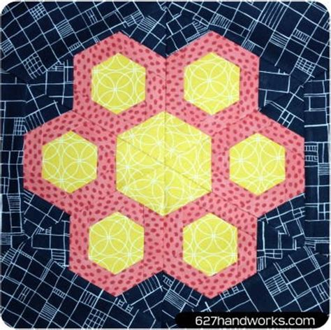 free paper piecing hexagon templates garfunkel hexagon block pattern favequilts