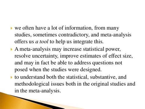 how to write a meta analysis research paper meta analysis qualitative research design
