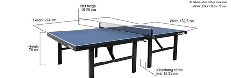 official ping pong table size moretomushrooms