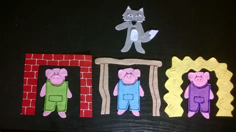 three little pigs flannel stories with ms jenna