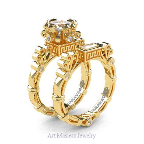 masters caravaggio 14k yellow gold 1 5 ct princess