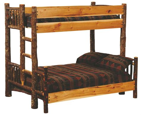 Hickory Bunk Beds Hickory Ladder Right Bunk Bed With Hickory Rails From Fireside Lodge 80121