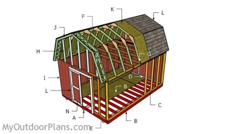 gambrel shed roof plans myoutdoorplans