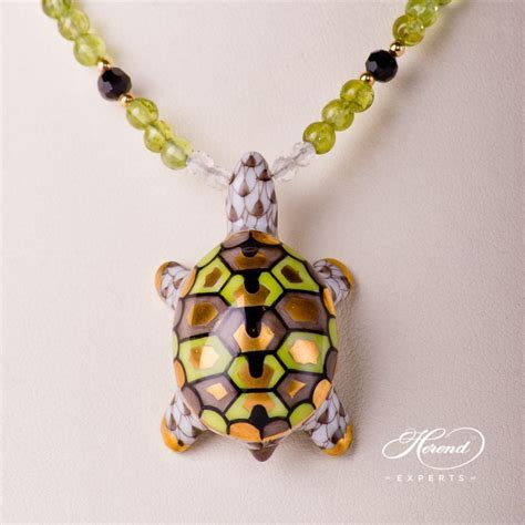 Turtle Necklace ? Light Brown   Herend Experts