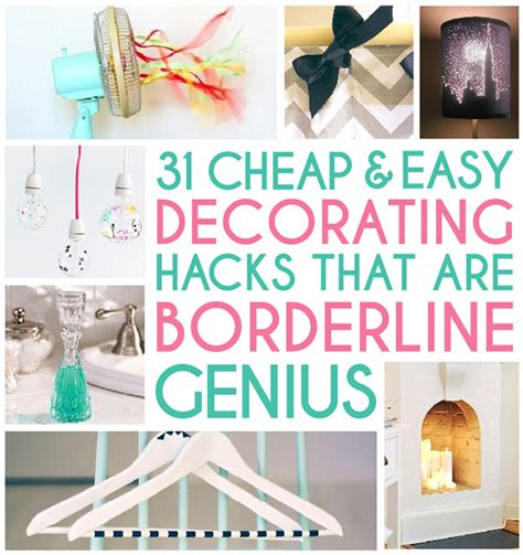 home decor hacks on