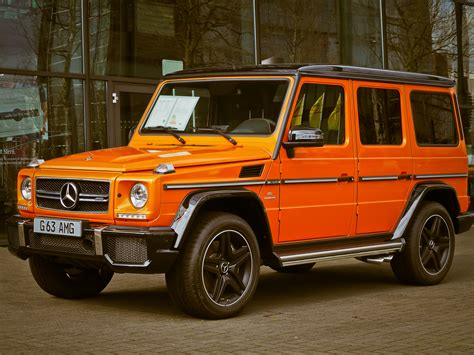 orange mercedes orange mercedes g63 183 free stock photo
