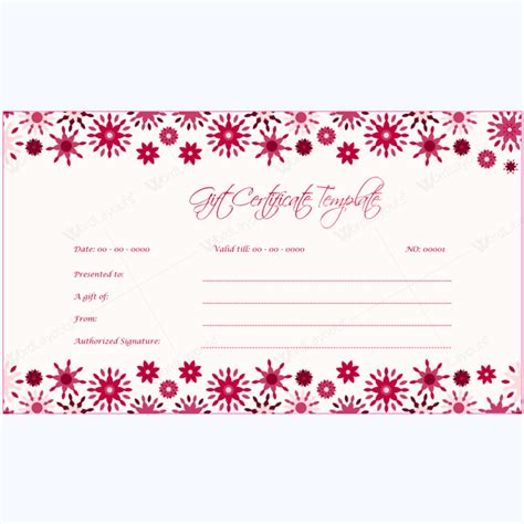 printable vouchers doc gift voucher template for word gift certificate