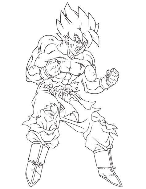 the gallery for gt goku super saiyan 3 coloring pages