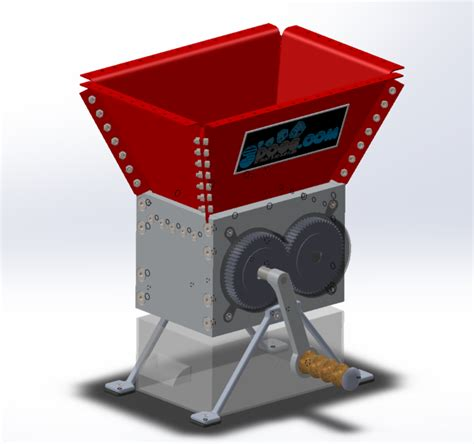 mini home shredder solidworks solidworks 3d cad model