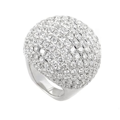 Pave Ring by 18k White Gold Micro Pave Ring Ebay