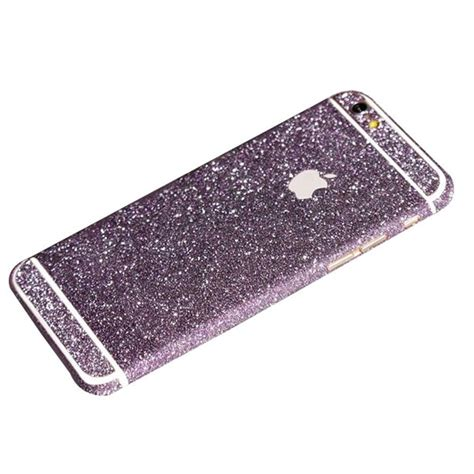 Glitter Skin Iphone 6 6s Green purple glitter sticker skin iphone 6 iphone 6 plus iphone