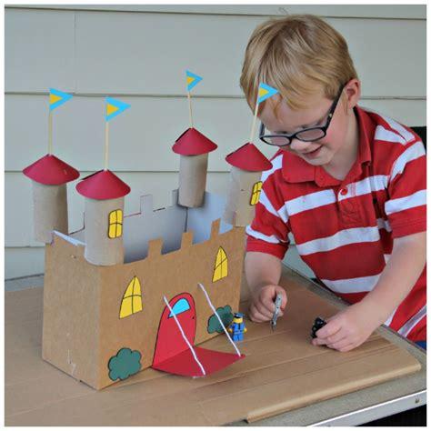 cardboard crafts for recycled cardboard castle craft 183 kix cereal
