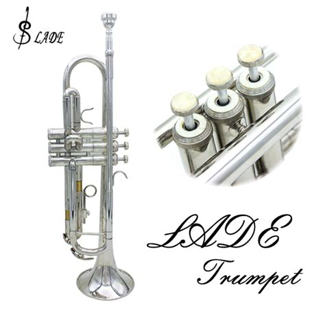 emporium lade lade bb silver trumpet brass band with gloves brush clean