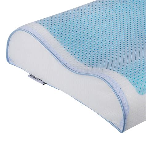 contour bed pillow comfort cool gel standard contour bed pillow memory foam