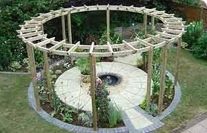 Circular Pergola Kits by Orlando Pergolas Garden Structures And Landscape Design