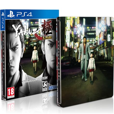 yakuza kiwami 201 dition steelbook ps4 fr zavvi