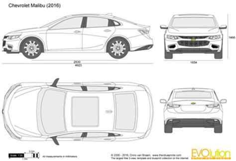 chevrolet malibu vector drawing
