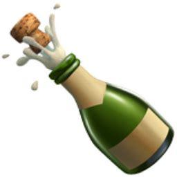 wine bottle emoji bottle with popping cork emoji u 1f37e