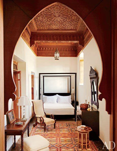 exotic bedroom by elizabeth warner by architectural digest ad designfile home decorating see how a crumbling 18th century home in morocco went from