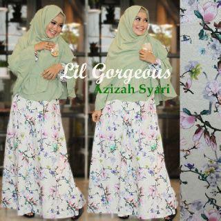 Gamis Azizah By Lil Georgeous azizah kuning gading baju muslim gamis modern