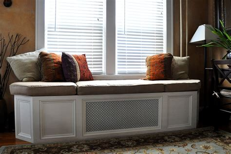 bench in front of window hand made custom window seat bench cushion by hearth and
