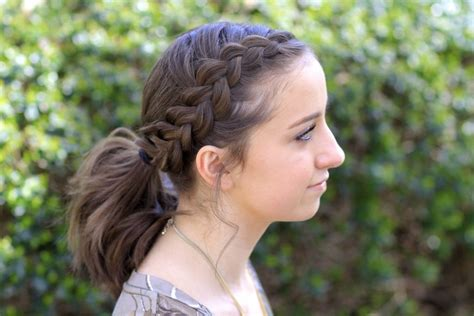 hairstyles for short hair in ponytail dutch accent ponytail short hairstyles cute girls