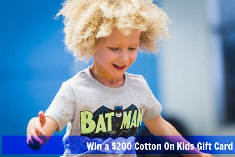 Cotton On Gift Card - planning with kids cotton on kids 200 gift card giveaway