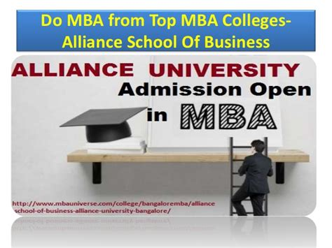 Is Alliance For Mba by Alliance School Of Business Alliance Bangalore