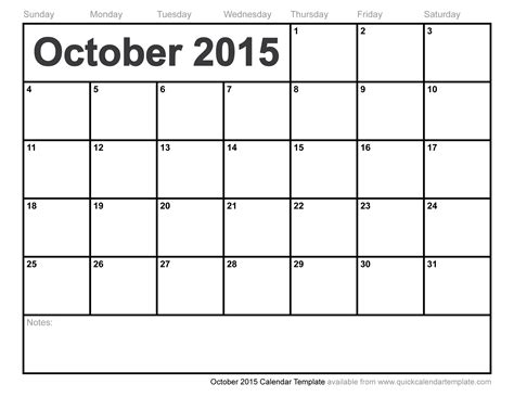Calendar Template October fashion october 2015 calendar