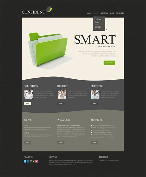 advertising agency drupal template 37753