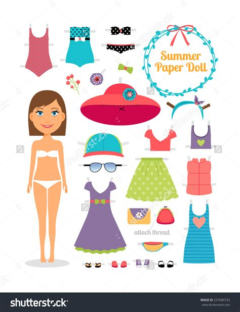 Dress A Doll Template by Printable Paper Doll Black Models Picture