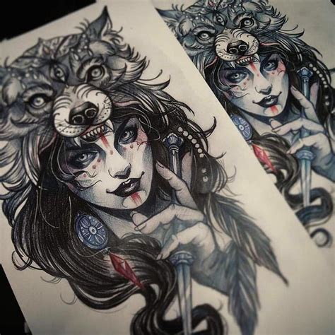 tattoo girl raven so awesome art found on chronicinkart by evanyuink
