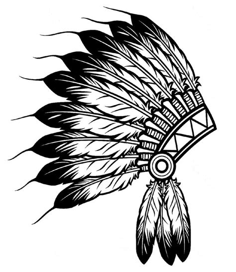 headdress coloring page free coloring pages of indian head dress