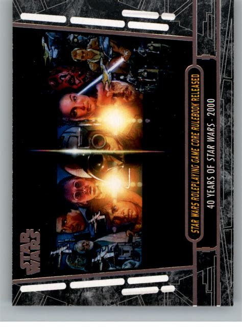 star wars anniversary 2017 star wars 40th anniversary trading cards pick from