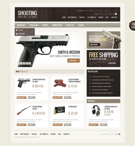 Gun Shop Zencart Template Web Design Templates Website Templates Download Gun Shop Zencart Gun Shop Website Template