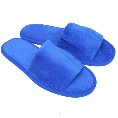 3 Bedroom 2 Bath House by Velour Open Toe Slippers Royal Blue