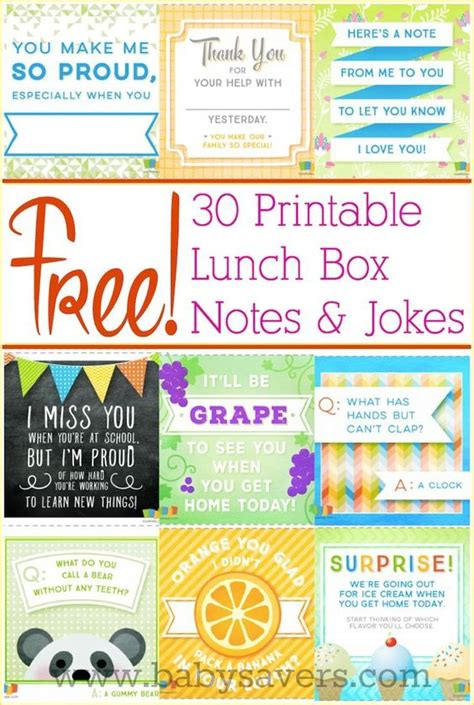 printable lunch jokes free printable lunch box notes and jokes for all ages