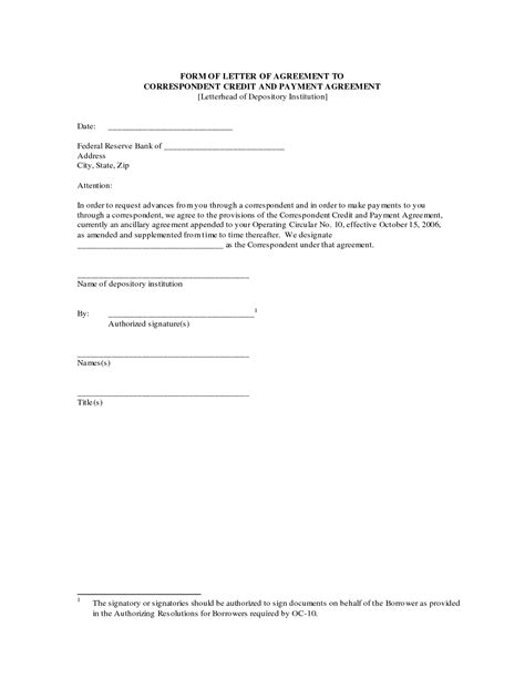 Letter Of Agreement Contract Template 10 Best Images Of Free Payment Agreement Letter Sample