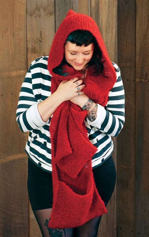 free knitting pattern hooded scarf pockets gimme shelter hooded scarf with pockets knitting