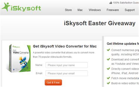 Iskysoft Giveaway - iskysoft video converter easter giveaway ending soon