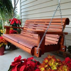 southern swings rollback cedar porch swing with chains