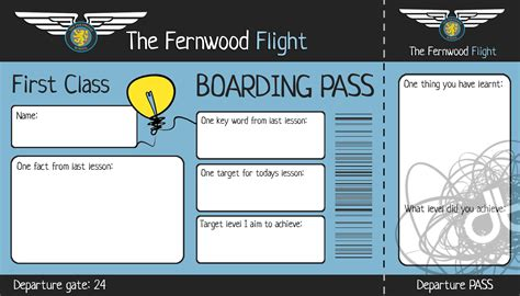 boarding card template teaching pedagoo org
