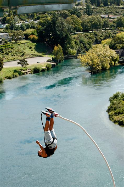 new zealand cliff swing taupo bungy jump cliff hanger highest water touch bungy