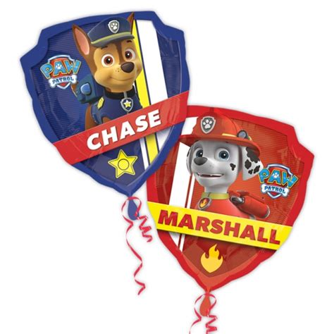 Balon Foil Paw Patrol Bolak Balik 27 quot paw patrol and marshall supershape foil balloon