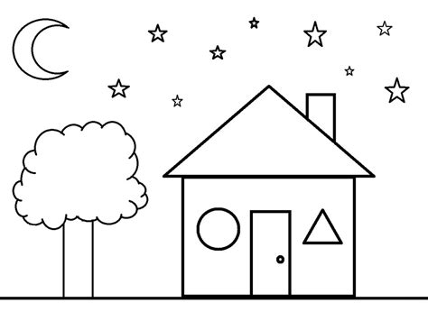 house coloring pages for preschoolers shapes coloring pages getcoloringpages com