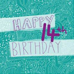 happy 14th birthday s card by megan claire