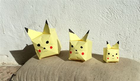 Origami Pokemons - easy origami step by step images images