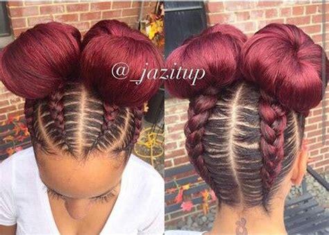 beautiful feed in braids into stylish bun | hair & beauty