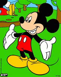 mikey mouse coloring printable mikey mouse