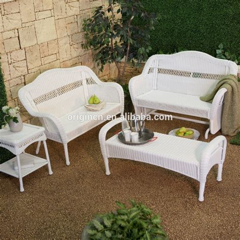 White Outdoor Patio Furniture White Rattan Patio Furniture White Rattan Sofa Purple Cushions Garden Outdoor Patio Get A